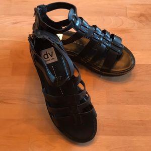 Black zip up Gladiator Sandals